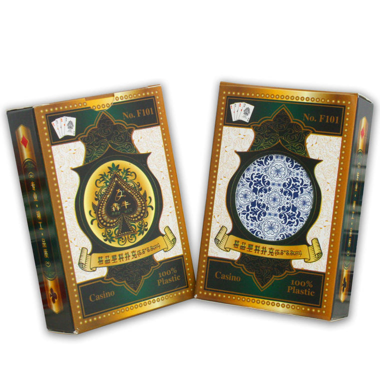 Very Good Feeling - Advanced Plastic Playing Cards - Plastic Cards - Poker Cards Game Set for Texas Hold'em/Blackjack Poker