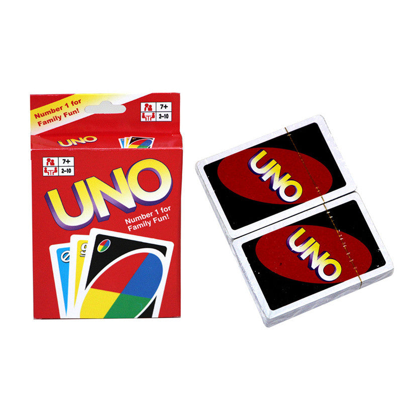 UNO Card Standard Edition Playing Cards Chrome Paper Multi-colored 5.6*8.8CM Family Fun Play Cards Gift Box English Manual
