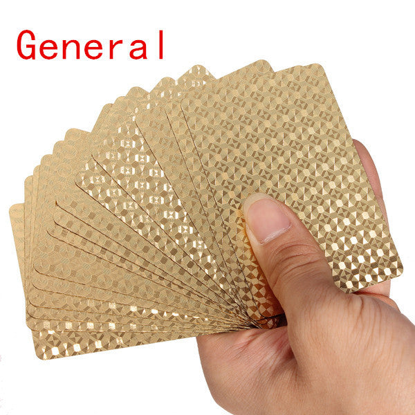 New Arrival High Quality 24K Gold Foil Plated Poker Playing Cards Collection Box EURO Dollar/Genreal Style For Entetainment Gift