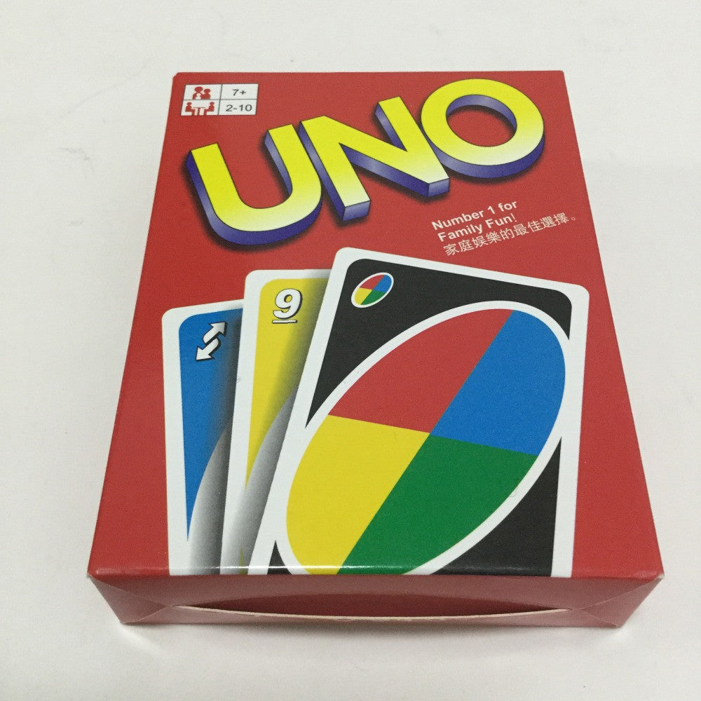 1 PCS Family Game Uno Playing Cards Uno Game Cards Board Game Party Game Cards with instruction