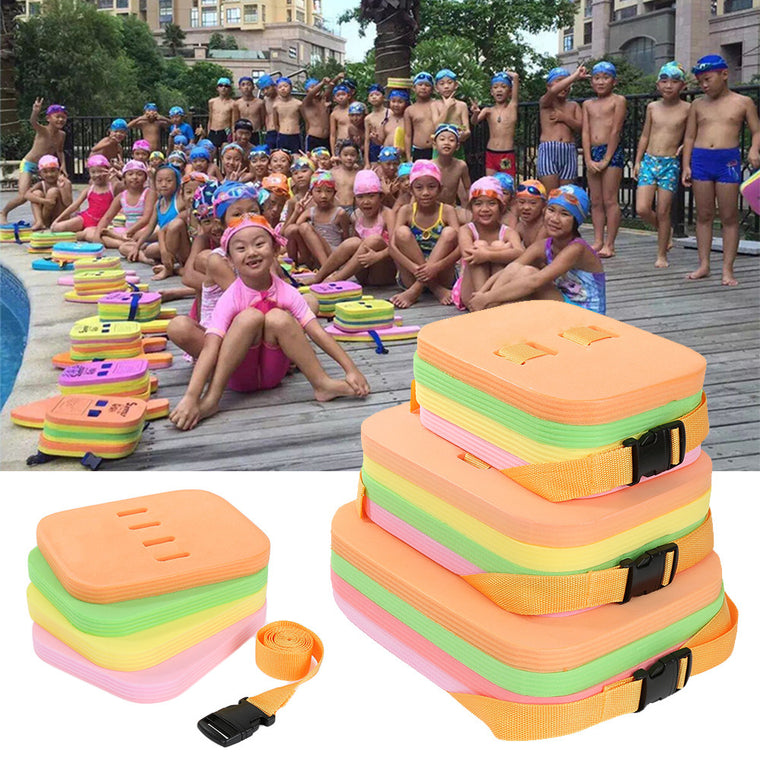 4 in 1 Swimming Floating Kickboard Child Adults Safe Pool Training Learner Aid Foam Air Mattresses Kick Board with Safety Belt