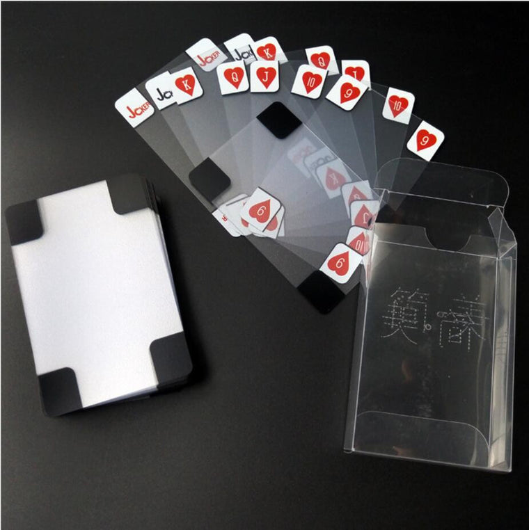 transparent PVC poker playing cards plastic crystal water proof waterproof wareable ware resistant free shipping