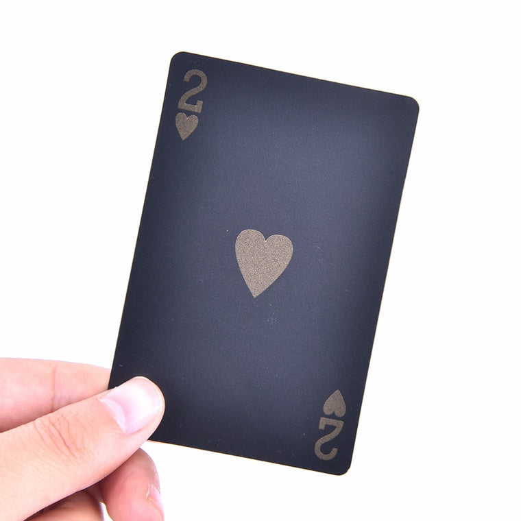 1 Set Black Plastic Playing Cards Black Poker Celebrity Poker Cards Waterproof Playing Card