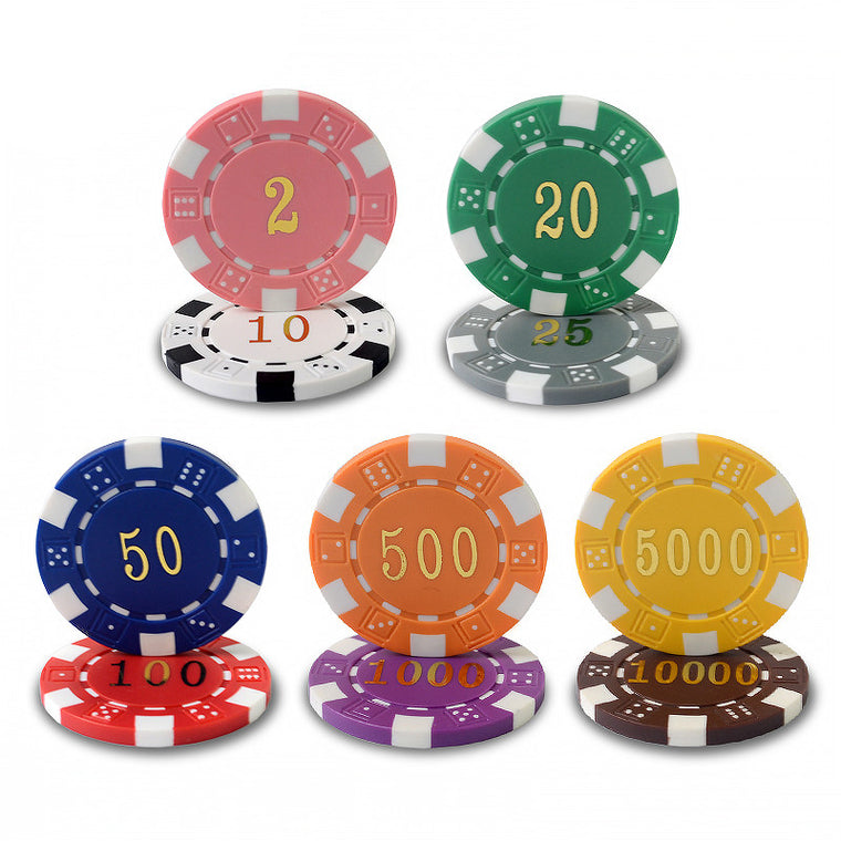 10pcs/pack ABS Bronzing Chips Poker Gambling Chips Texas Hold'em Baccarat Black Jack 21 Points Mahjong Casino Chips