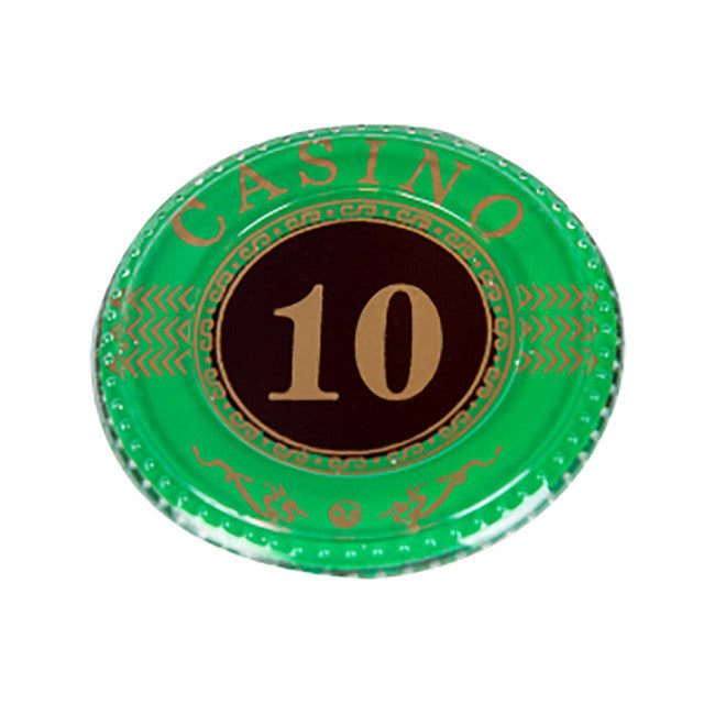 10 PCS/LOT  Poker Chips 8g Acrylic Casino Chips 14 Colors Option Texas Hold'em Poker Wholesale Poker Chips Free Shipping