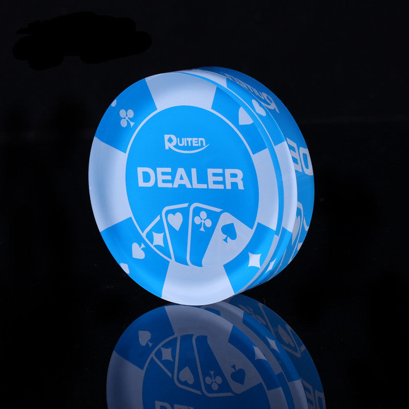DEALER Big Banker Chips Transparent Poker Chips 7.1*7.1CM High Quality Acrylic Material