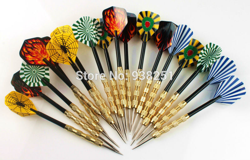 18 pcs of Steel Tip Darts Nylon Shafts with Extra 6 Sets of Dart Flights