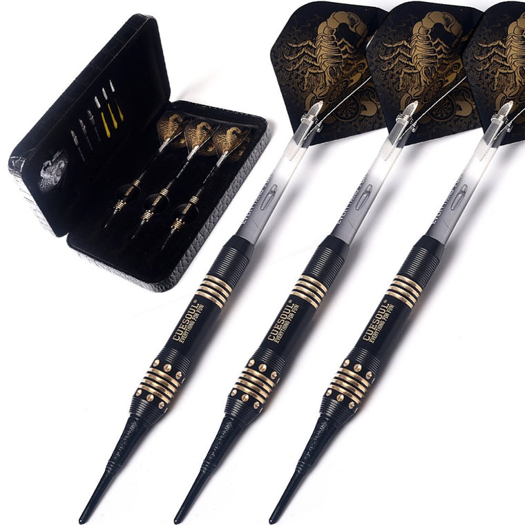 New Black Scorpion Deluxe  Soft Tip Darts Set -16 gram