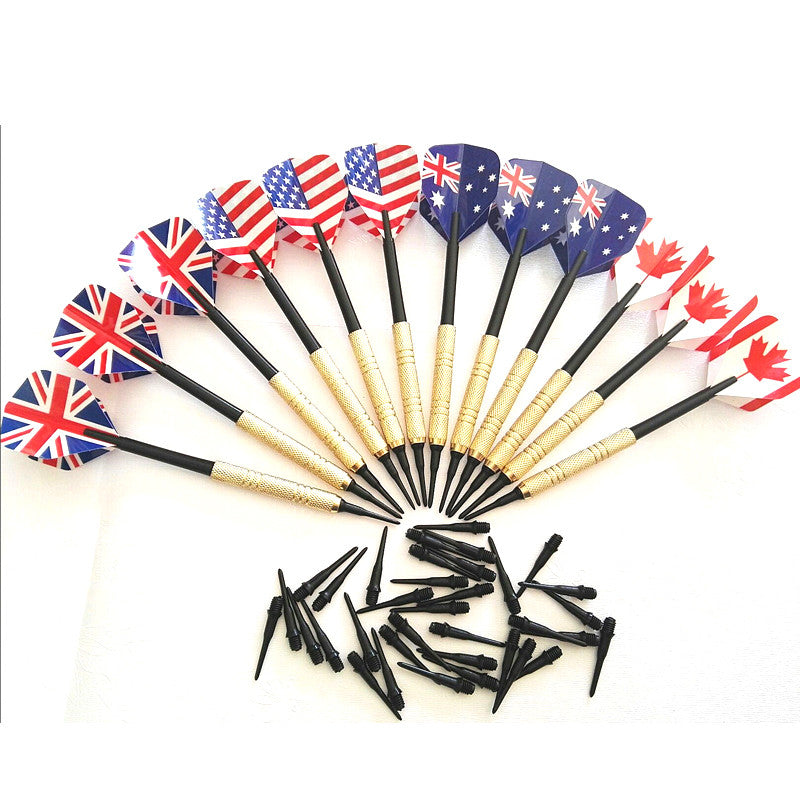 12Pcs Soft Tip Darts with 36 Extra Tips Four Kind Nice Flights Set Plastic Tips Points Needle Replacement for Electronic Dart