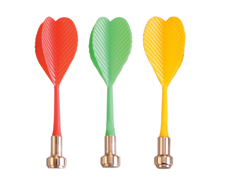 6Pcs Bullseye Target Game Plastic Dart Wing Magnetic Darts for Two-Sided Magnetic Board Green/Blue/Red/Yellow Color