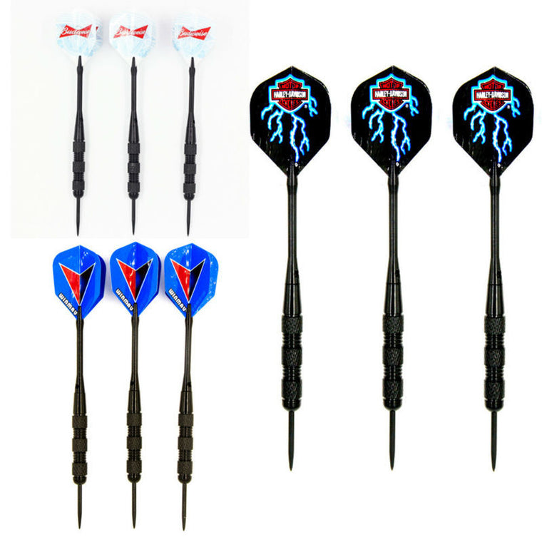 HUANGZHE  3 sets(9pcs) stainless steel steel tip darts 20 Grams  darts and dart Aluminium shafts darts flights free shipping