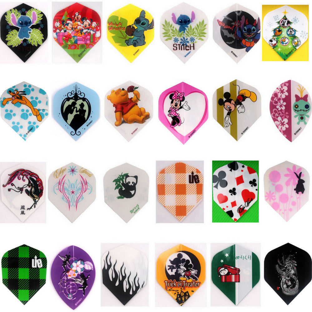72 pcs of Dart Flights in 24 kinds of different Pattern NEW Darts Dart Flight