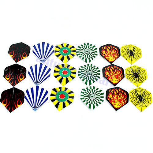 New 18 Pcs Nice Dart Flights Darts Flight Throwing Toy