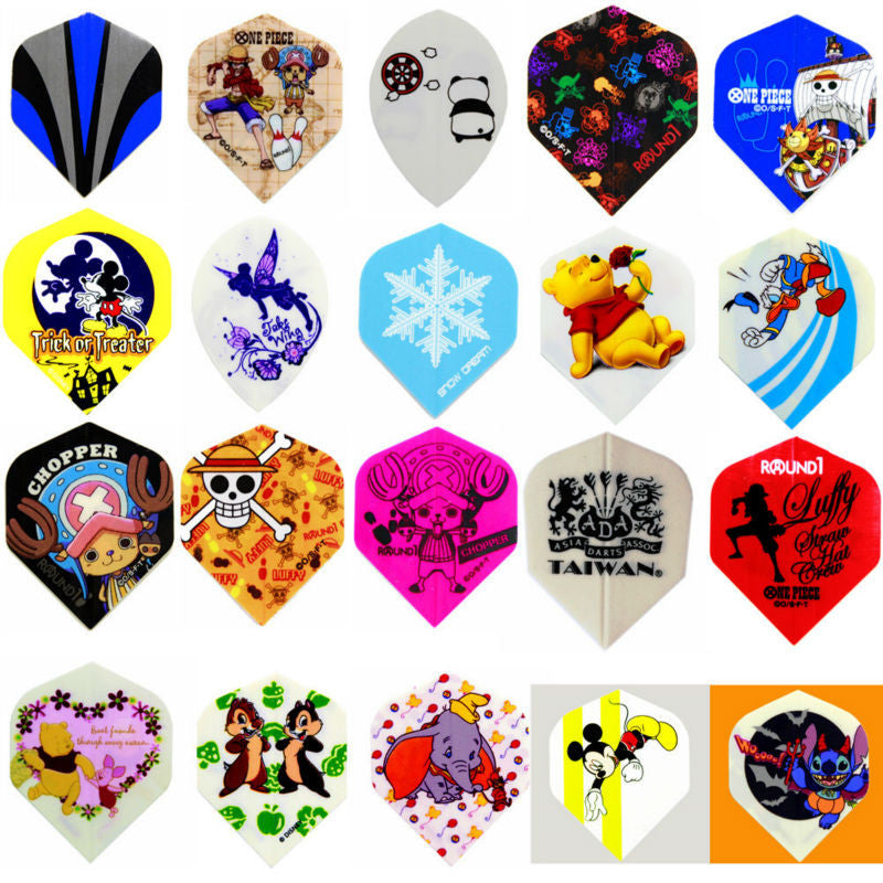 KL-60 pcs/1 set Darts Flights Anime Flights High quality 20 kinds Different patterns flight New Good  Free Shipping