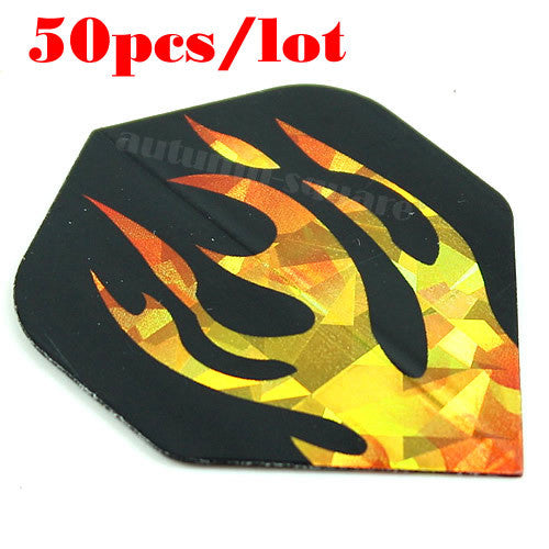 50pcs/lot Dart Flights Nice Laser Reflective Darts Flight Throwing Toy