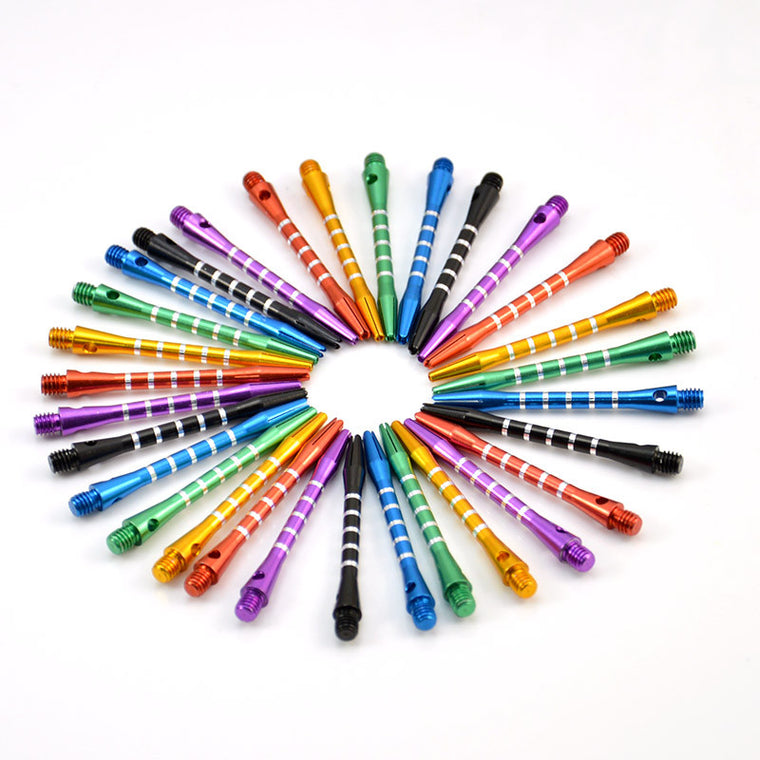 25pcs/lot New Aluminum Medium Darts Shafts Harrows Dart Stems Throwing, 5 Colors