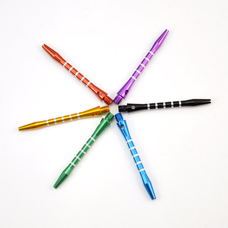 6PCS Aluminum Medium Darts Shafts Harrows Dart Stems Throwing Toys - 6 Colors