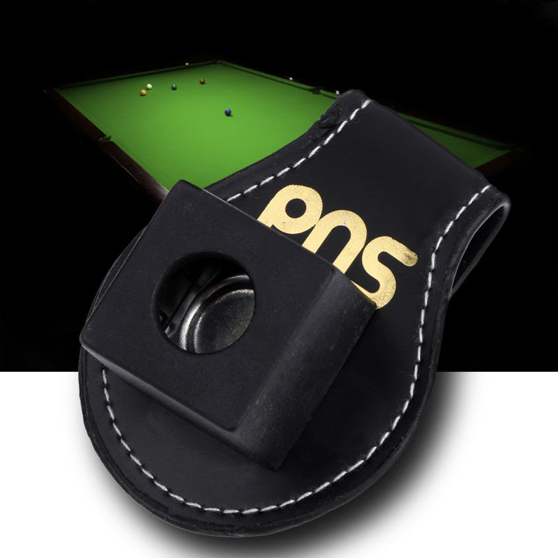 High Quality Pool Billiards Snooker Leather Magnetic Belt Clip Chalk Holder For Standard Chalk Snooker Accessories BHU2