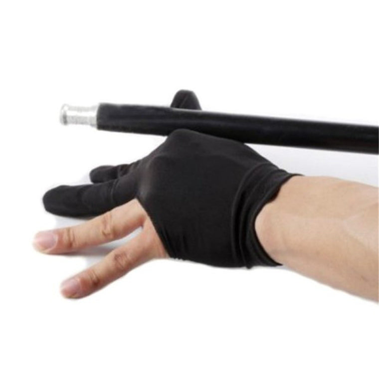 5 Pcs/Lot Professional 3 Finger Nylon Billiard Gloves Snooker Pool Cue Shooters Gloves Black Outdoor