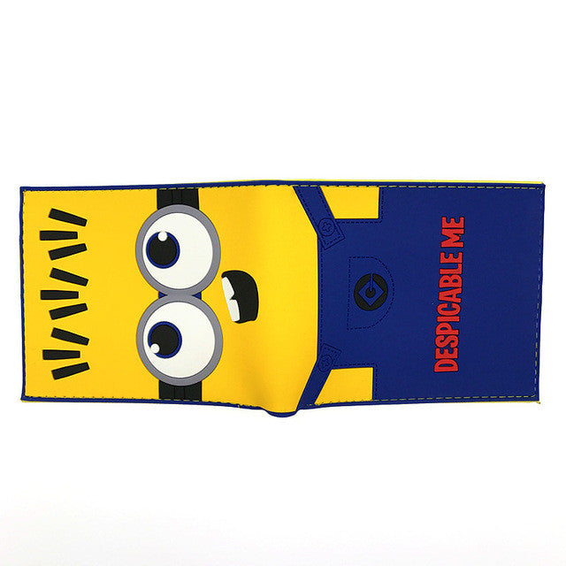 Movie Despicable Me Cartoon Wallet Cute Minions Coin Purse With ID Card Holder