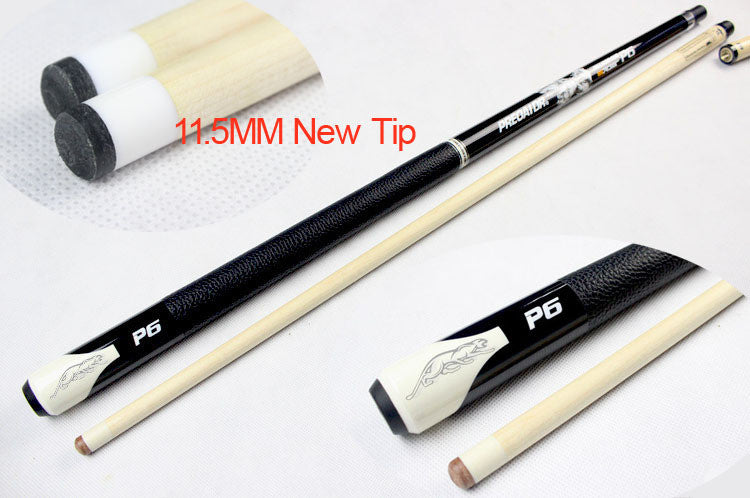 Maple wood billiard pool cue stick with11.5mm leather tip Uni-Loc joint protector 1/2 Jointed Maple Shaft, 58 Inch