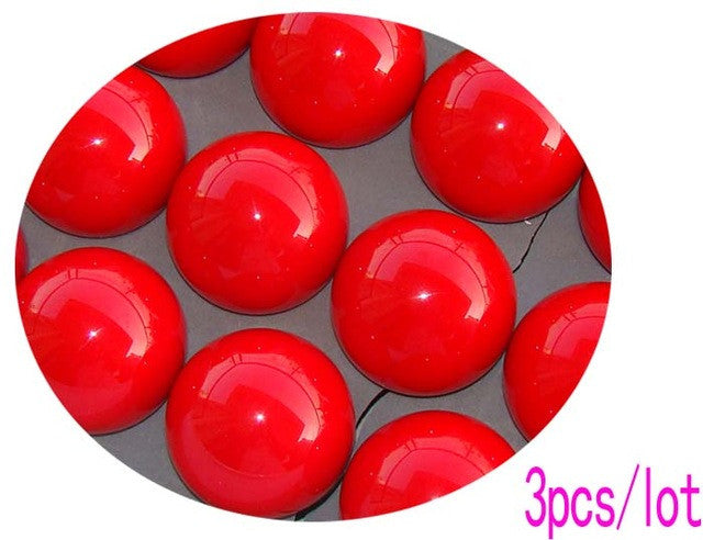 3pcs/lot 52.5mm Red Single ball Resin 2 1/16 inch Snooker Balls Hot Sale Billiards snooker accessories