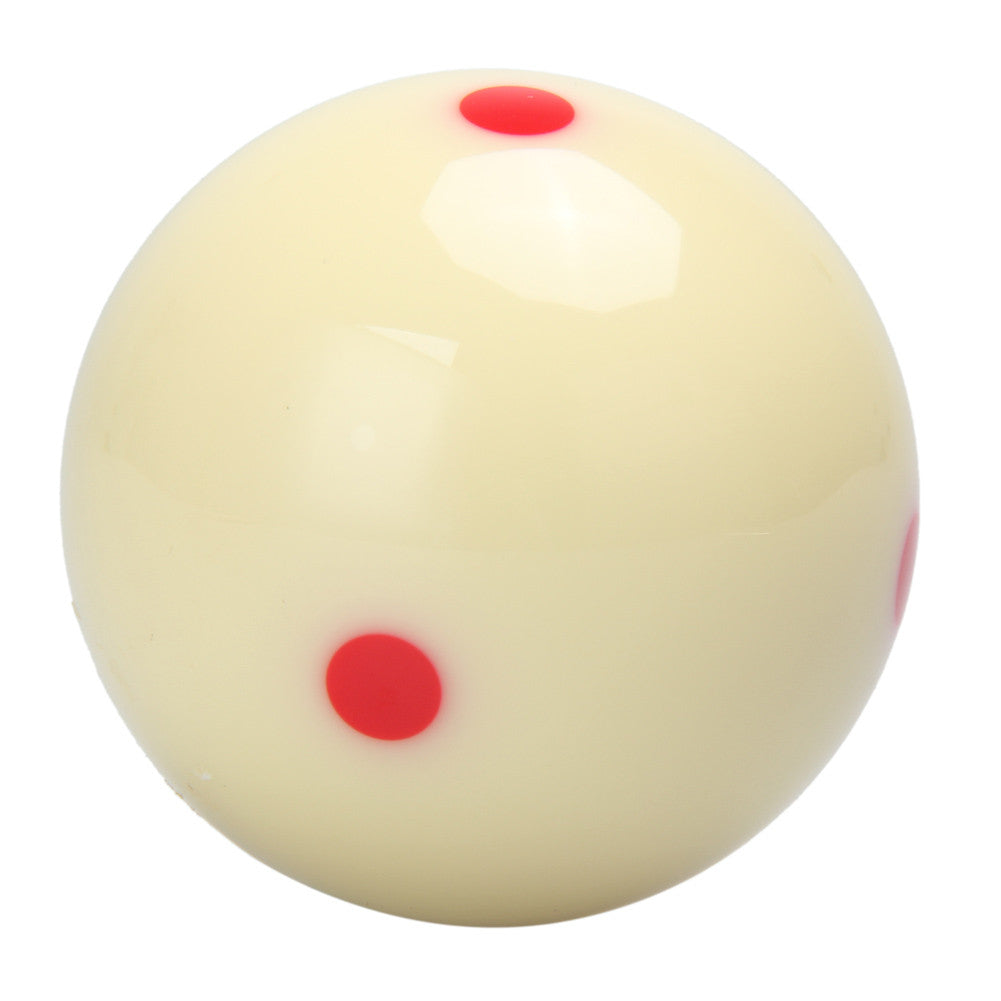 6 Red Dots Cue Ball Spot Measle Pool Billiard Practice Training 2 1/4 Professional Pool Ball