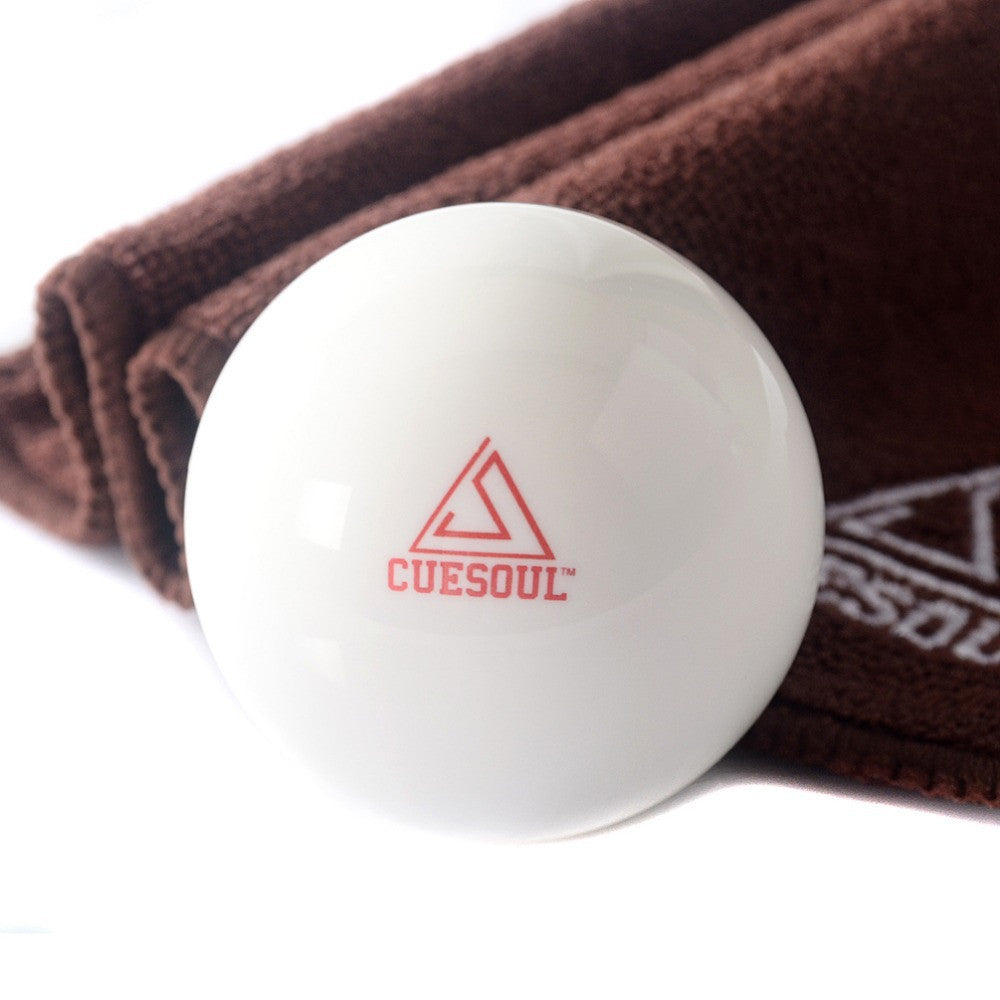 BC001 Free Shipping Cuesoul Pro Cup Resin 2 1/4 6oz Billiard Cue Ball, White Ball Pool Cue Ball,Cue Ball  With Clean Cue Towel