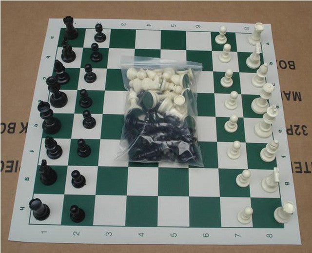 High Quality Plastic Resin International Chess Set ( King High 64mm,32 Chess Pieces) Chess With A Chessboard Family Party School