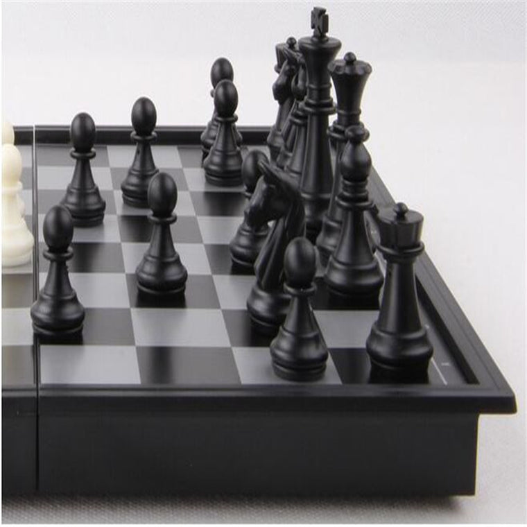 1X New Magnetic Folding Chess Board Portable Set High Quality Games Camping Travel ES1464