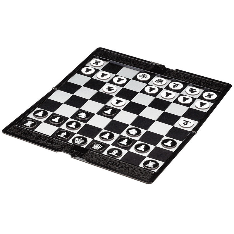 Pocket Mini Chess Set Board Magnetic Portable Checkers Set Traveler Plane Easy To Carry Family Game P5