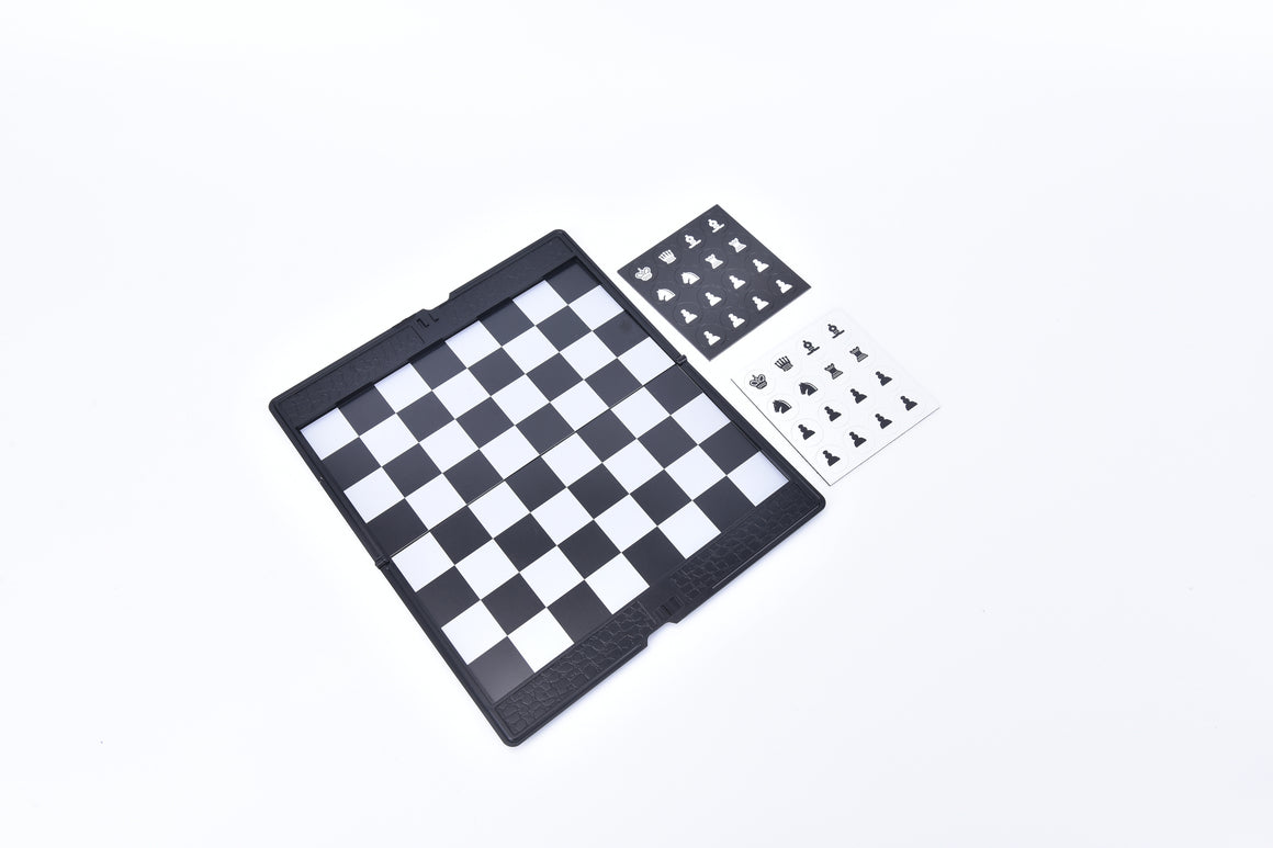 1Set Pocket Chess Set Board Magnetic Checkers Set Traveler Plane To Carry Game