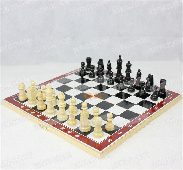 Large Wooden chess Wood veneer folding board chess pieces children's game products