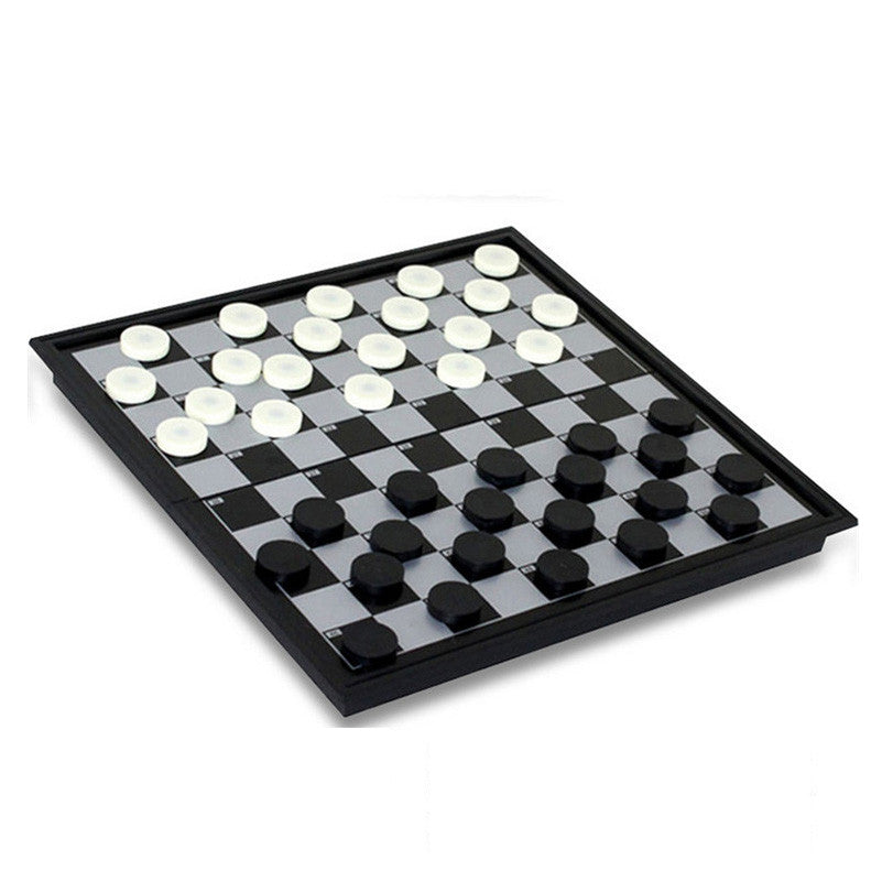 25*25*2cm Portable  Magnetic Foldable Board 100 grid Draughts Chess Set Game F228