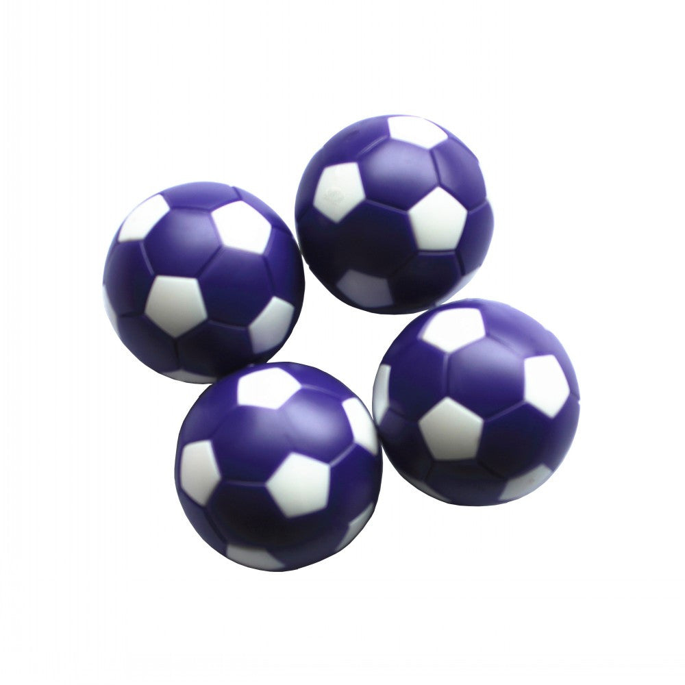 football ball mini balls 4 pcs Soccer Table Ball Fussball Indoor Game Purple+White 36mm plastic 24g/pcs