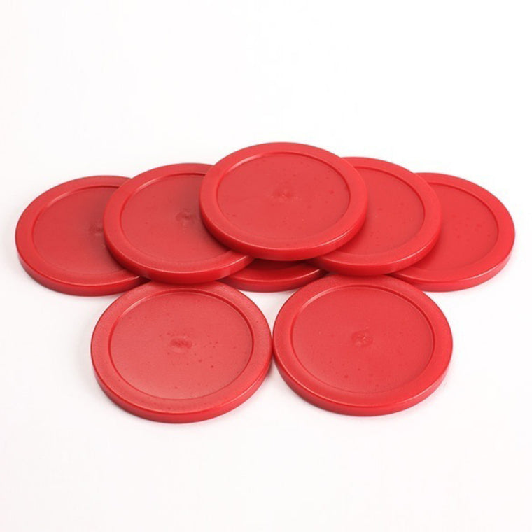 Top Sell 8Pcs 63mm Red Air Hockey Table Pucks Puck Mallet Goalies Children Table SS