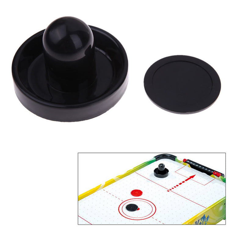 1 Pcs 96mm Air Hockey Table Felt Pusher Mallet Goalies With 1Pc 63mm Puck Black