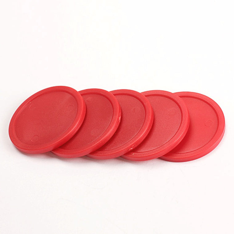 5Pcs Red 2-inch Mini Air Hockey Table Pucks 50mm Puck Children Table New