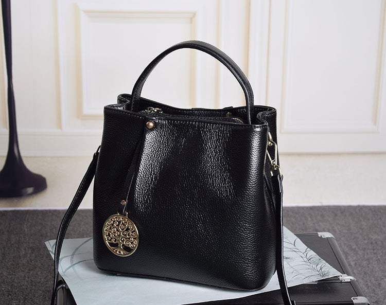 100% Soft Natural Genuine Leather Small Women Tote Bag Female Bags Famous Brands Handbag Woman Shoulder Messenger Bag