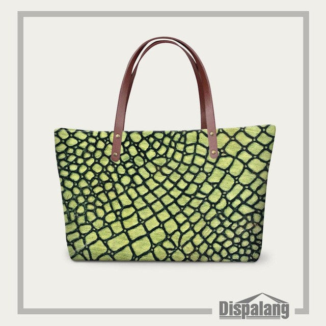 Luxury Spanish Brand Women Handbags Snakeskin 3D Printing Beach Bags High Quality Bolsos Ladies Casual Tote Shoulder Bags