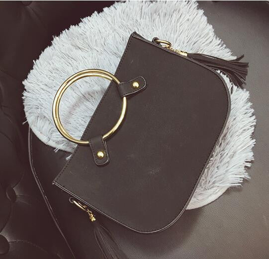 Fashion Women Handbags Famous Brands Designer High Quality Nubuck Leather Hand   Bag Luxury Vintage Casual Tassel Messenger Bags