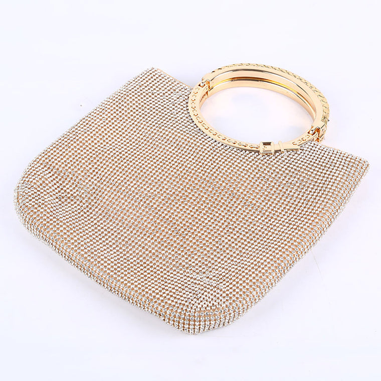 Luxury Handbags Women Bags Designer Fashion Handmade Tote Bag Feminine Golden Handbag Chains Crossbody Diamond Evening Party Bag