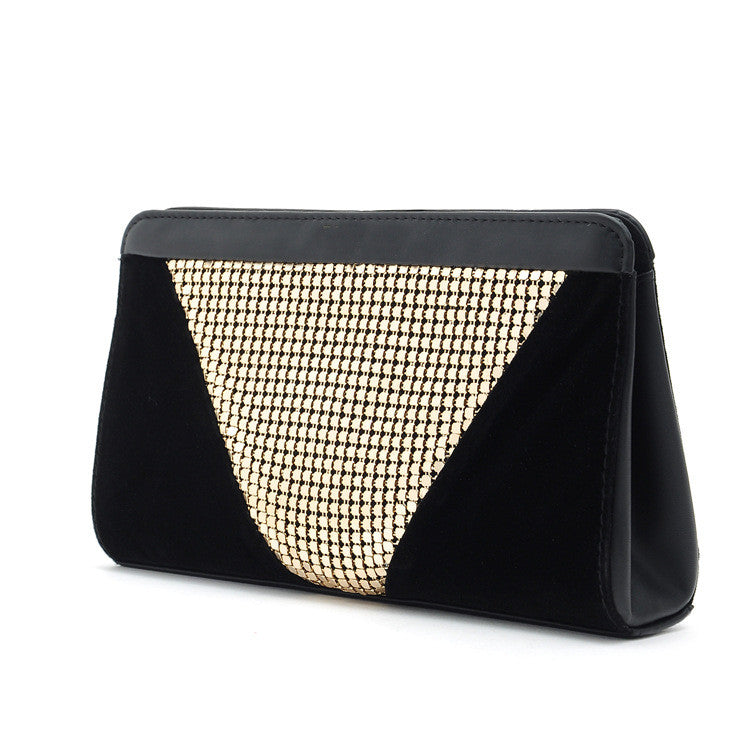 High Quality Designer Women Clutch gold velvet Clutches aluminum Luxury black evening bags H061