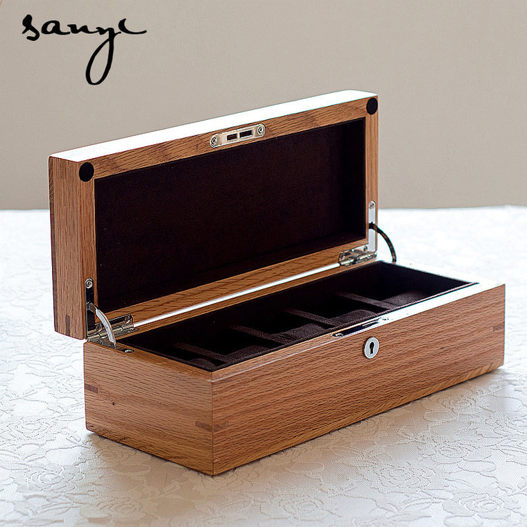 American oak  box five small box  in pure real wood  display cases Jewelry box Wood box