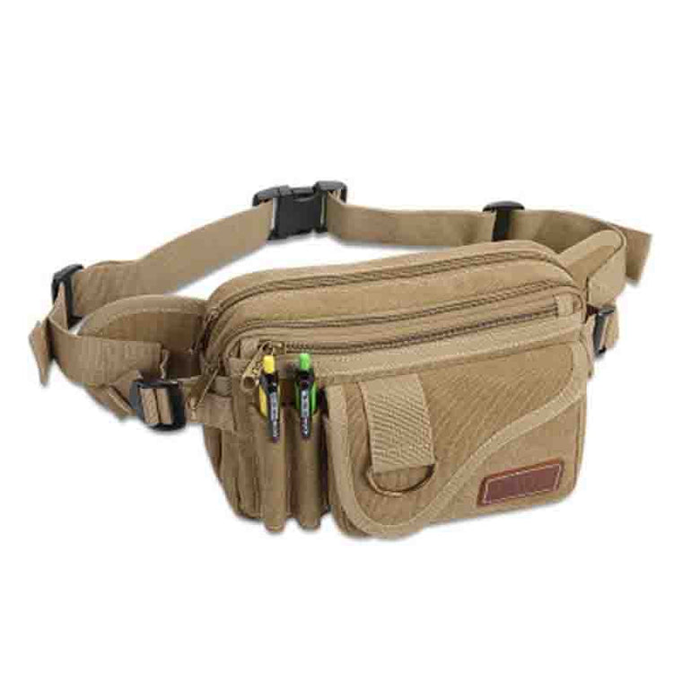 Waist Packs Men Waist Bag Fanny Pack Canvas Belt Bag Multi-Pocket Waist Pack Weekend Bags to Travel Sac Banane Rinonera