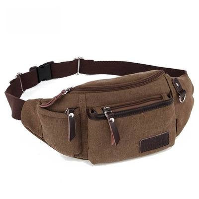 Waist Packs Men Waist Bag Fanny Pack Canvas Belt Bag Multi-Pockets Waist Pack Weekend Bags to Travel Sac Banane Rinonera