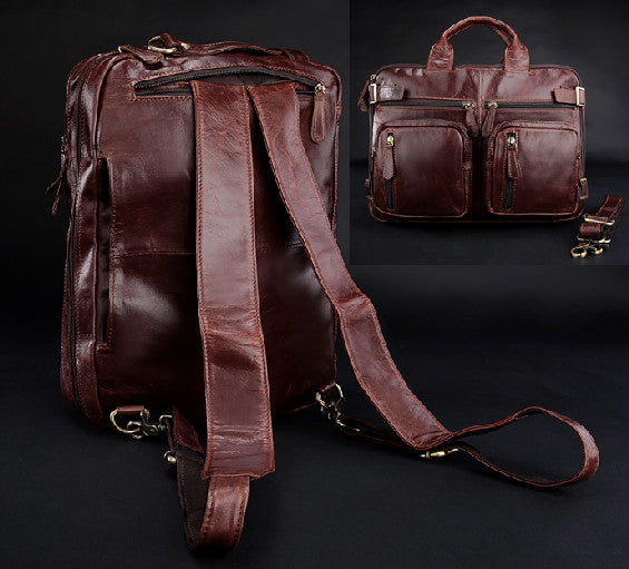 High Class Genuine Leather Men Backpack Fashion Backpacks Bag male school bag Multi-function crossbody bag Shoulder bag