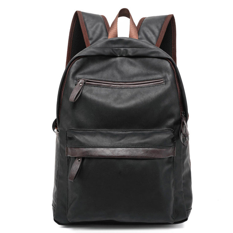 MAIWEINI Hot Selling Oil Wax Leather Backpack For Men Western College Style Bags Men's Casual Backpack & Travel Bags Mochila Zip