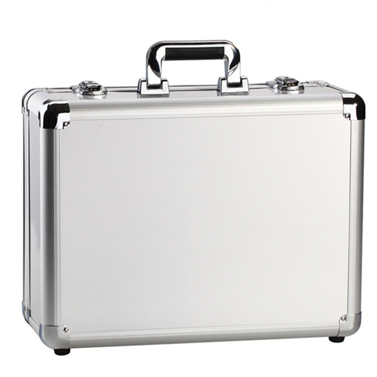 KUNDUI suitcase women men travel bag Thickening aluminum alloy laptop Large toolbox / lockable storage Display box briefcase