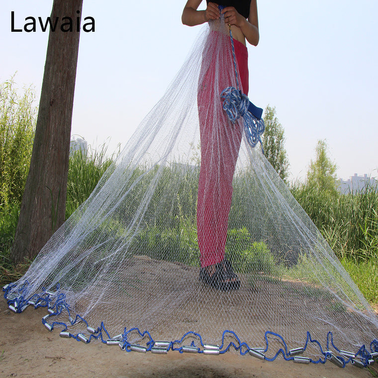 American Hand Cast Net Diameter 2.4- 7.2m Fishing Net 4.2m Fishing Network 3m Fishing Net 7.2m Fishing Nets Or No Pendant